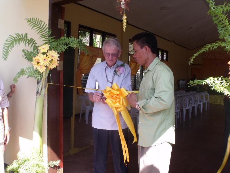 Ribbon cutting at the Plaridel FWB Church in Palawan, Philippines