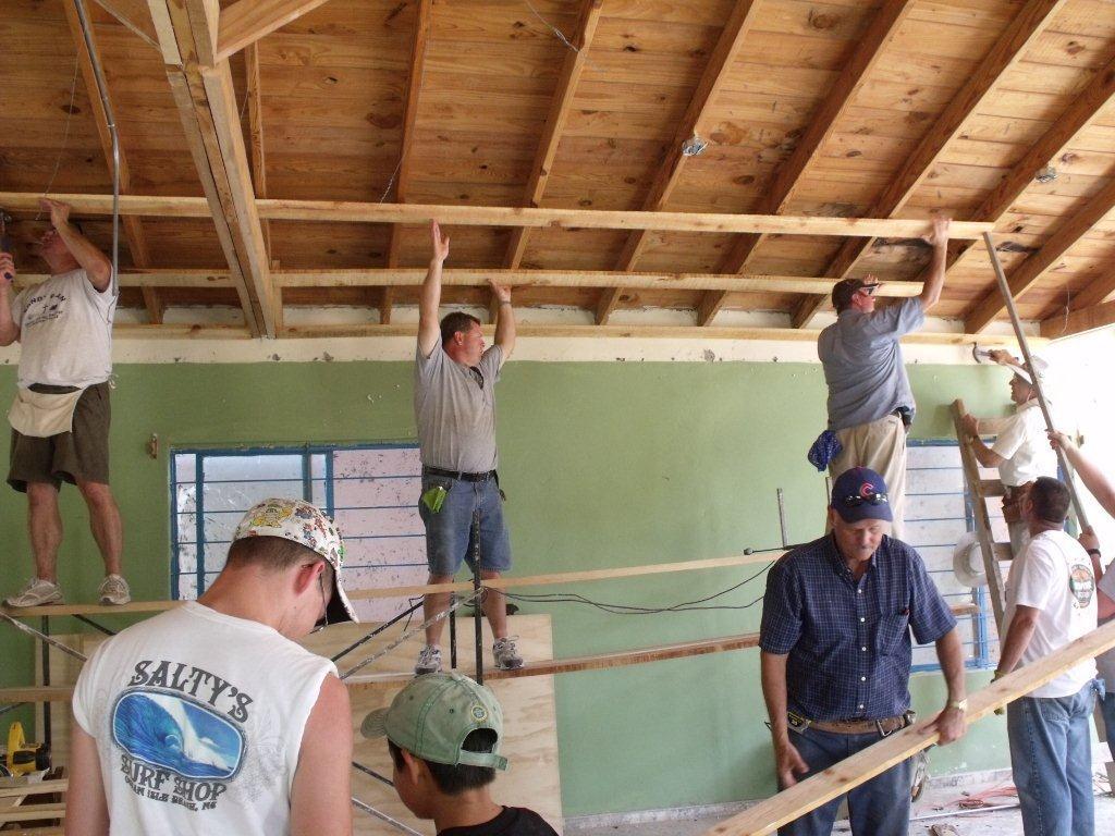 Short-Term Team doing repairs